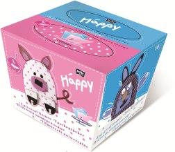 Духи, Парфюмерия, косметика Салфетки универсальные двухслойные, заяц - Bella Baby Happy