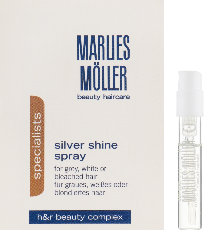 Кондиционер-спрей для блондинок против желтизны волос - Marlies Moller Specialist Silver Shine Spray (пробник)
