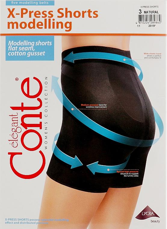 """Леггинсы-шорты утягивающие """"X-Press Shorts"""", 90 den, natural - Conte"""