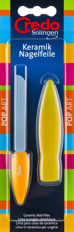 Керамическая пилка в чехле трехсторонняя, желтая - Credo Solingen Pop Art