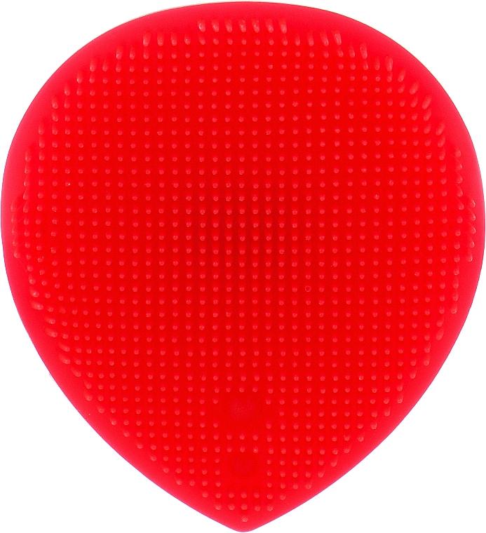 Массажер для умывания и очищения кожи лица, красный - Omkara