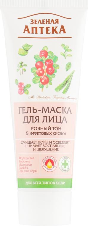 """Гель-маска для лица """"Ровный тон"""" - Зеленая Аптека"""