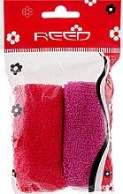 Духи, Парфюмерия, косметика Набор резинок для волос, 7583, 2шт, красная + малиновая - Reed