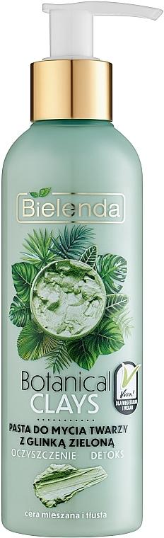 Паста для лица с зеленой глиной - Bielenda Botanical Clays Vegan Face Wash Paste Green Clay