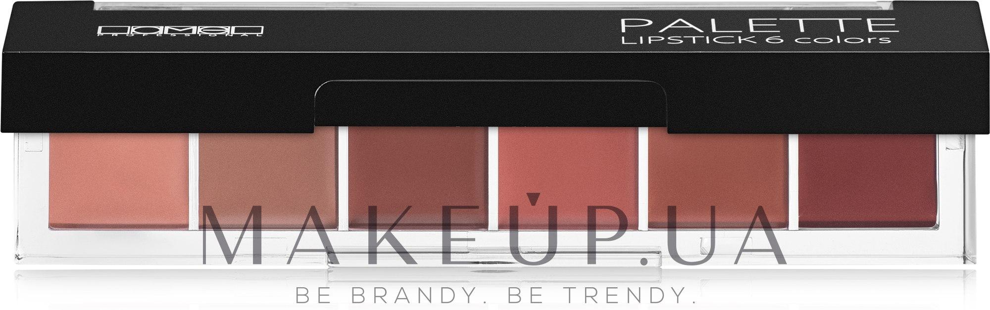 Палетка помад для губ - Lamel Professional Palette Lipstick — фото 01