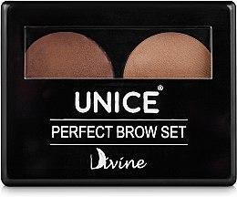 Набір для брів - Unice Divine Perfect Brow Set — фото N2