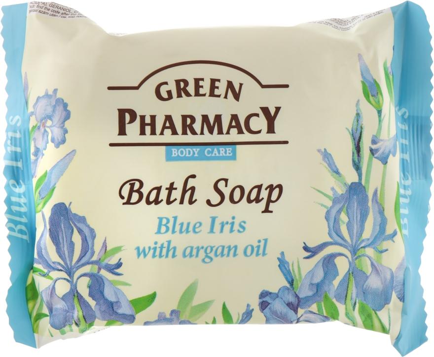 """Мыло """"Голубой ирис с аргановым маслом"""" - Зеленая аптека"""