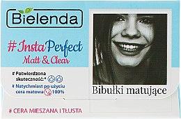 Духи, Парфюмерия, косметика Матирующие салфетки для лица - Bielenda Insta Perfect Matt & Clear