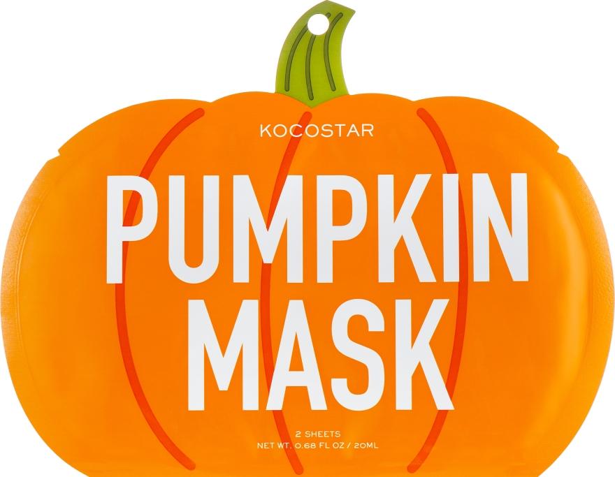 "Маска-слайс для лица ""Тыква"" - Kocostar Pumpkin Slice Mask Sheet"