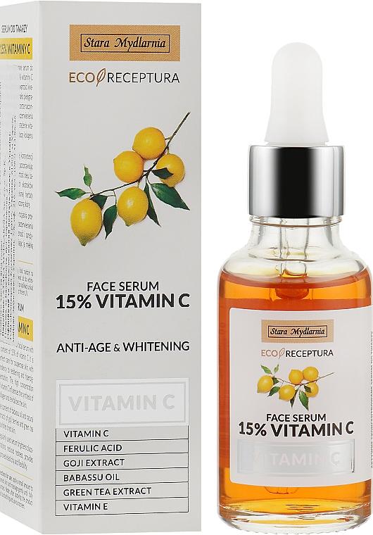 Сыворотка для лица с содержанием 15% витамина С - Stara Mydlarnia Vitamin C Face Serum 15% Vitamic С