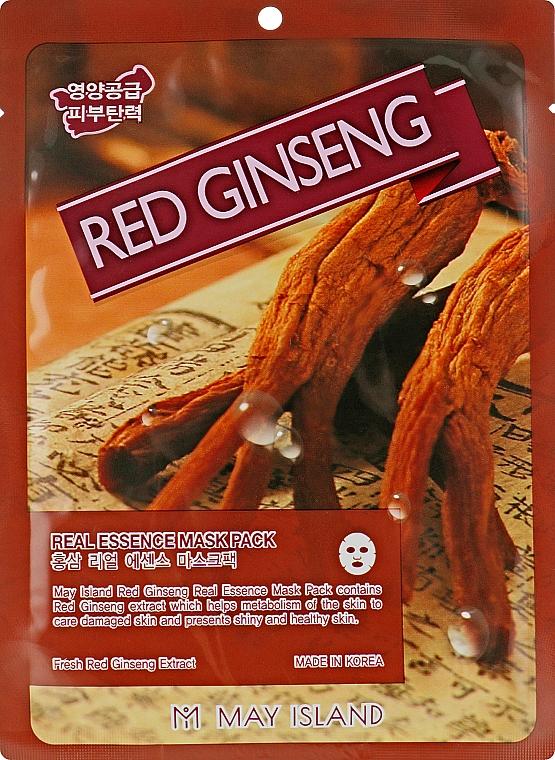 Тканевая маска с красным женьшенем - May Island Red Ginseng Real Essence Mask Pack
