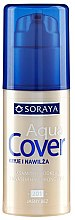 Духи, Парфюмерия, косметика Тональный крем с увлажняющим эффектом - Soraya Aqua Cover