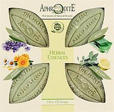 Духи, Парфюмерия, косметика Подарочный набор - Aphrodite Herbal Essence (soap/4x100g)