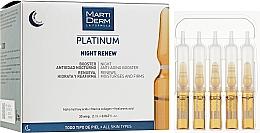Духи, Парфюмерия, косметика Ночные ампулы для лица против фотостарения - MartiDerm Platinum Night Renew Ampollas