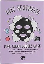 Духи, Парфюмерия, косметика Пузырьковая тканевая маска для лица - G9Skin Self Aesthetic Poreclean Bubble Mask