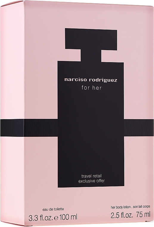 Narciso Rodriguez For Her - Набор (edt/100ml + body/cr/75ml)