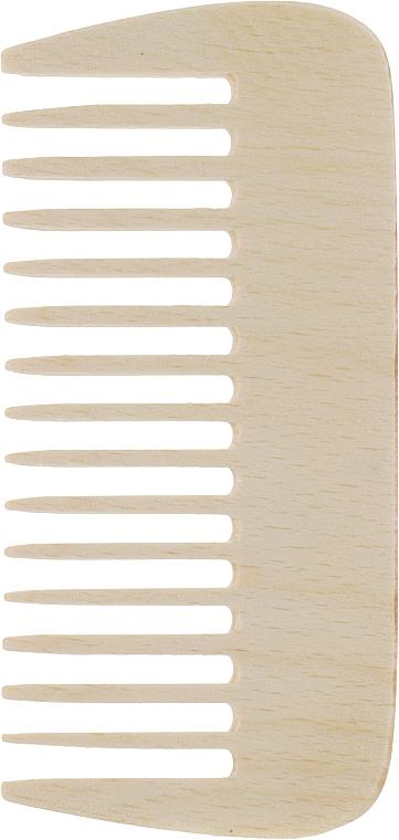 Гребень для волос, деревянный, маленький - Globos Professional Line