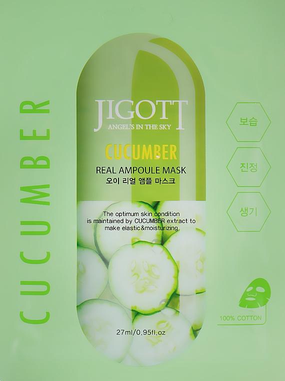 "Ампульная маска ""Огурец"" - Jigott Cucumber Real Ampoule Mask"