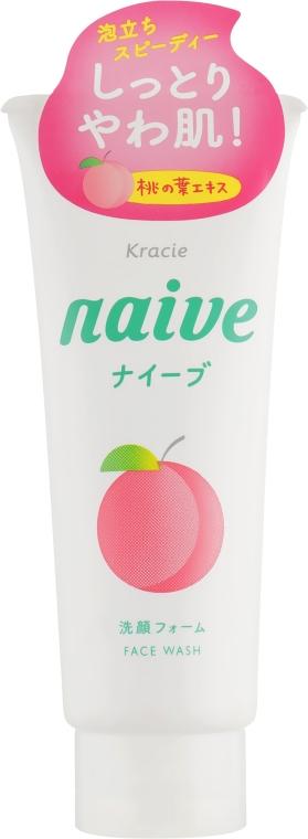 Пенка для умывания и удаления макияжа с экстрактом листьев персикового дерева - Kanebo Naive