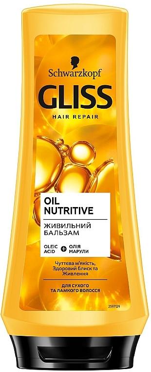 Питательный бальзам для сухих и поврежденных волос - Gliss Kur Oil Nutritive Balsam