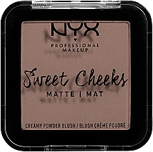 Парфумерія, косметика Матові рум'яна - NYX Professional Makeup Sweet Cheeks Matte Blush