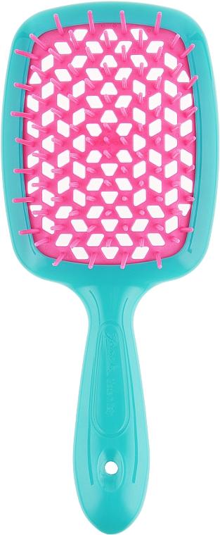 Расческа для волос, бирюзовый с розовым - Janeke Superbrush