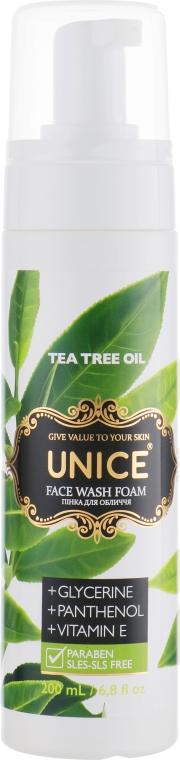 Пенка для лица с маслом чайного дерева - Unice Face Wash Foam Tea Tree Oil