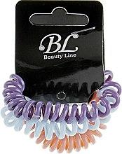 Духи, Парфюмерия, косметика Набор резинок для волос, 405004, васильковая+пудровая+фиолетовая - Beauty Line