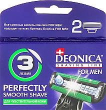 Парфумерія, косметика Змінні касети для гоління, 3 леза - Deonica For Men