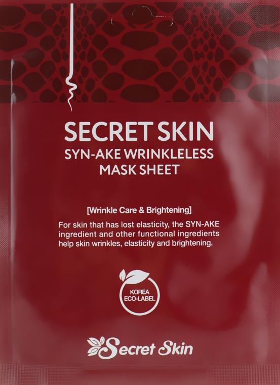 Маска для лица с пептидом змеиного яда - Secret Skin Syn-Ake Wrinkless Mask Sheet