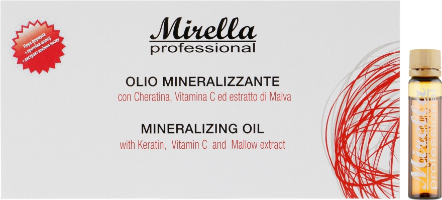 Минерализированное масло для волос - Mirella