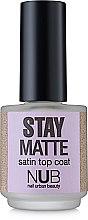 Духи, Парфюмерия, косметика Матовый закрепитель для лака - NUB Stay Matte