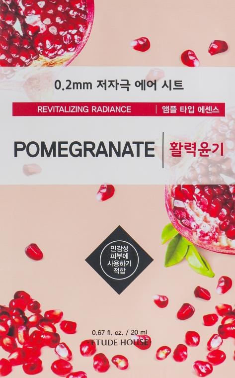 Ультратонкая маска для лица с экстрактом граната - Etude House Therapy Air Mask Pomegranate
