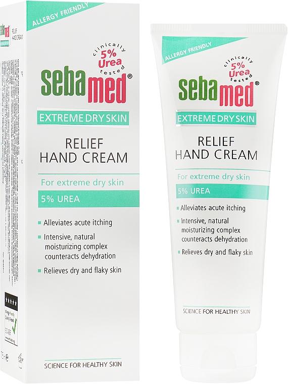 Крем для рук для очень сухой кожи - Sebamed Extreme Dry Skin Relief Hand Cream 5% Urea