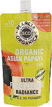 Духи, Парфюмерия, косметика Пилинг для сияния кожи лица - Planeta Organica Eco Organic Asian Papaya Face Peeling