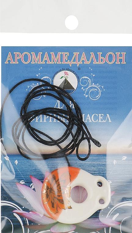 Аромакулон на шнурке, кувшин круглый, молочно-оранжевый - Адверсо