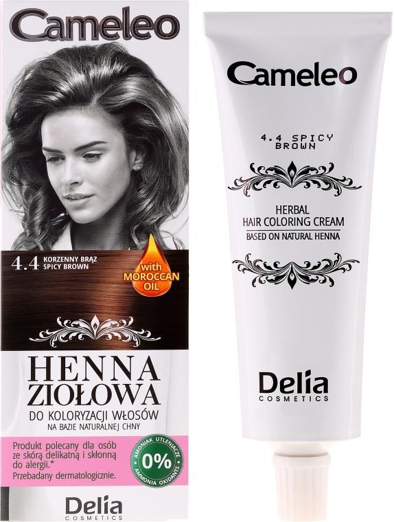 Травяная краска для волос на основе хны - Delia Cameleo