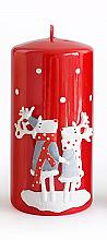 Духи, Парфюмерия, косметика Декоративная свеча, красная, 7x14 см - Artman Reindeers