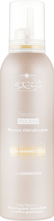 Мусс придающий блеска волосам - Hair Company Inimitable Style Treating Mousse