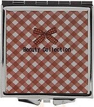 Духи, Парфюмерия, косметика Зеркальце карманное 85604, 6 см, в клетку - Top Choice Beauty Collection Mirror