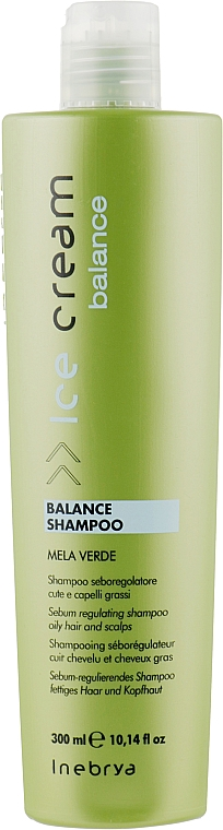 Шампунь для жирной кожи головы - Inebrya Ice Cream Balance Shampoo