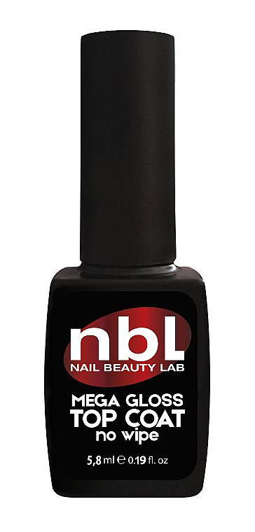 "Топ для гель-лака ""Мега-блеск"" без липкого слоя - Jerden NBL Nail Beauty Lab Mega-Gloss Top Coat No Wipe"