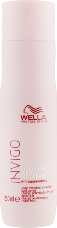 Шампунь-нейтрализатор желтизны - Wella Professionals Invigo Blonde Recharge Color Refreshing Shampoo For Cool Blonde