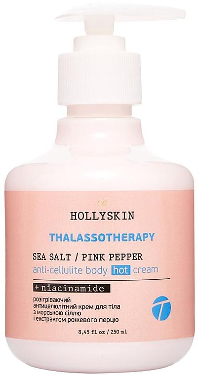 Разогревающий антицеллюлитный крем для тела - Hollyskin Thalassotherapy Sea Salt Pink Pepper Anti-cellulite Body Hot Cream