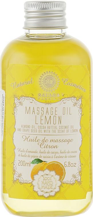 """Массажное масло для тела """"Лимон"""" - Saules Fabrika Massage Oil"""