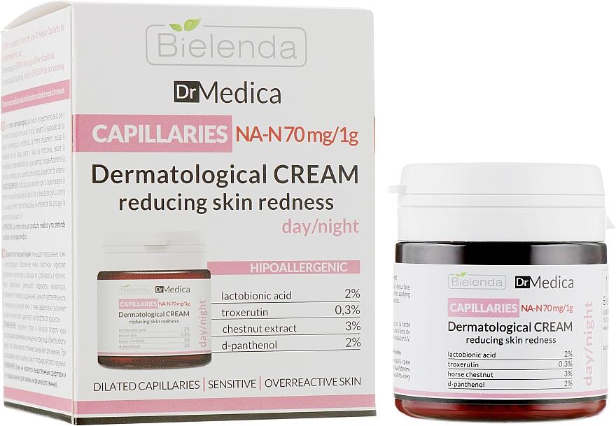 Дерматологический крем, уменьшающий покраснения, гипоаллергенный - Bielenda Dr Medica Capillaries Dermatological Redness Reducing Cream