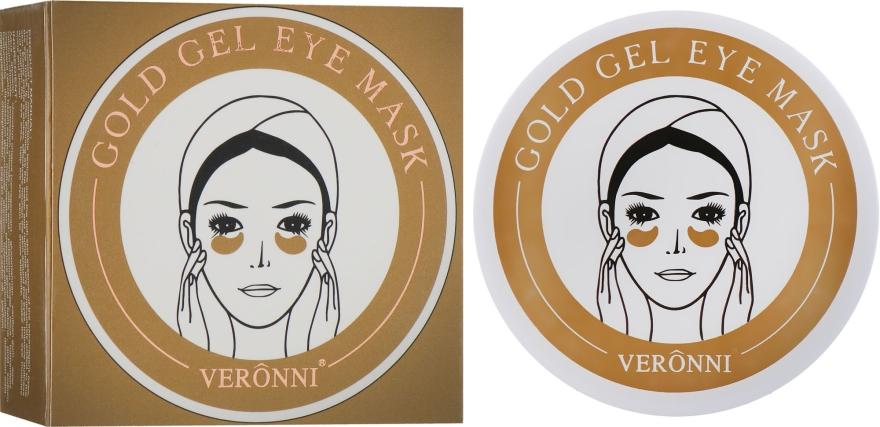 Омолаживающие гидрогелевые патчи для кожи под глазами с золотом и гиалуроновой кислотой и коллагеном - Veronni Gold Gel Eye Mask
