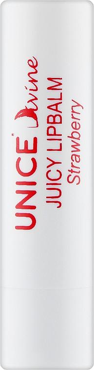 "Бальзам для губ ""Клубника"" - Unice Divine Juicy Lipbalm Strawberry"
