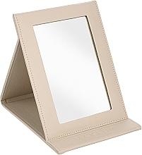 Парфумерія, косметика Дзеркало-книжка косметичне, бежеве - MakeUp Tabletop Cosmetic Mirror Beige