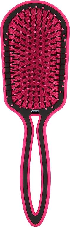 Щетка для волос овальная массажная, розовый - Titania